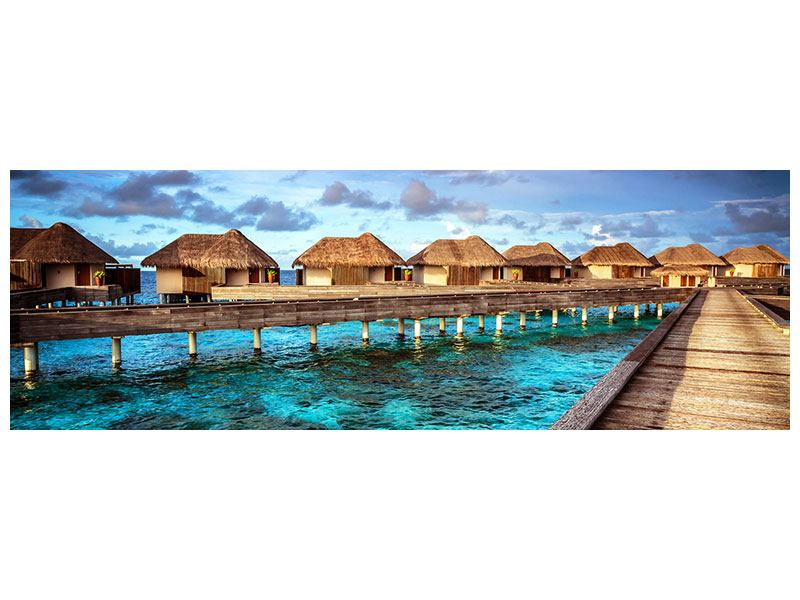 Poster Panorama Traumhaus im Wasser