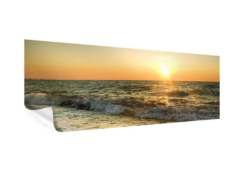 Poster Panorama Sonnenuntergang am Meer