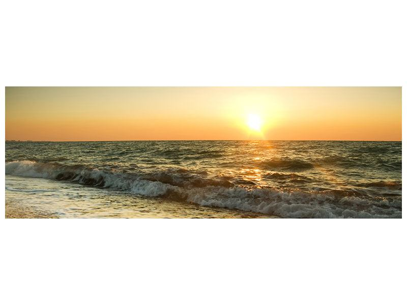 Poster Panorama Sonnenuntergang am Meer