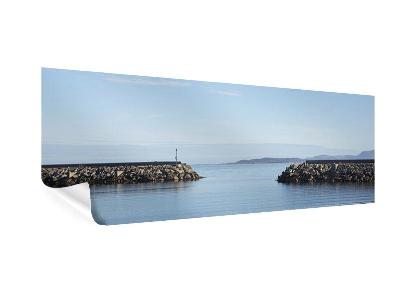 Poster Panorama Hafenmauern