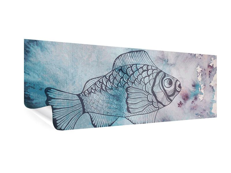 Poster Panorama Fisch-Aquarell