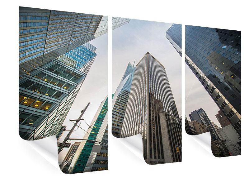 Poster 3-teilig Hochhäuser