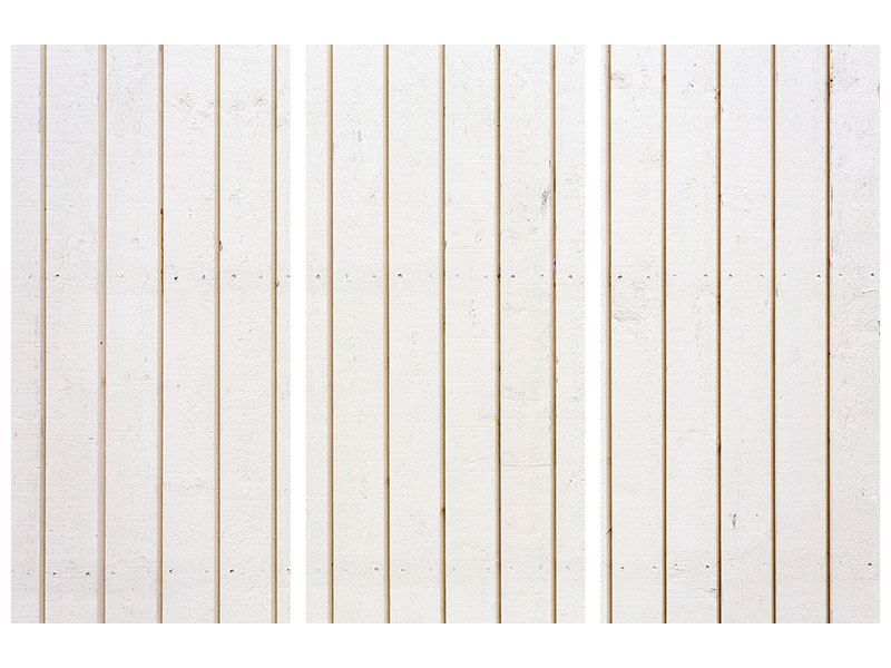 Poster 3-teilig Mediterranes Holz