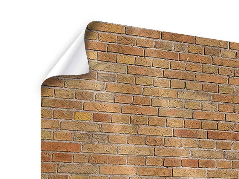 Poster 3-teilig Backsteinhintergrund