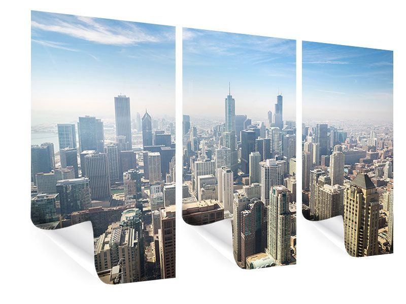 Poster 3-teilig Wolkenkratzer Chicago