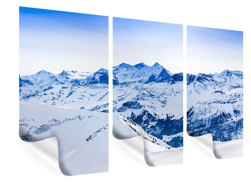 Poster 3-teilig Die Schweizer Alpen