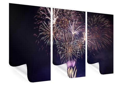Poster 3-teilig Feuerwerk