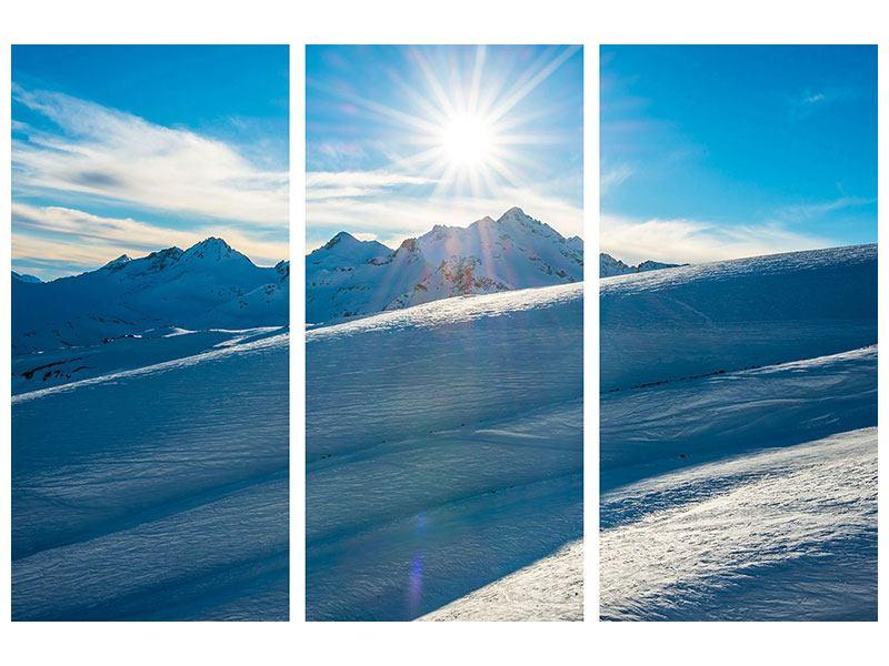 Poster 3-teilig Ein Wintermärchen in den Bergen
