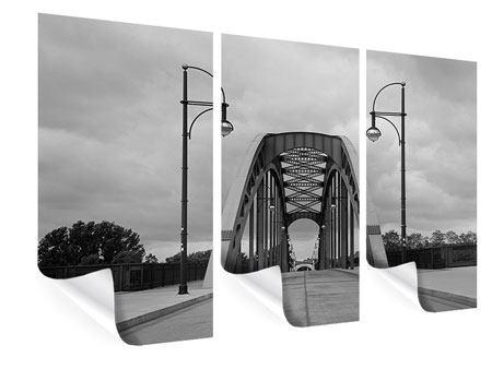 Poster 3-teilig Poetische Brücke