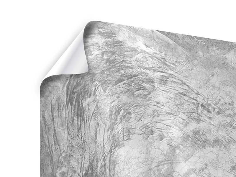 Poster 3-teilig Wischtechnik in Grau