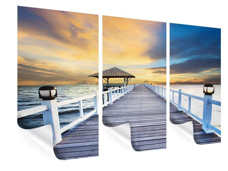 Poster 3-teilig Die Brücke ins Meer