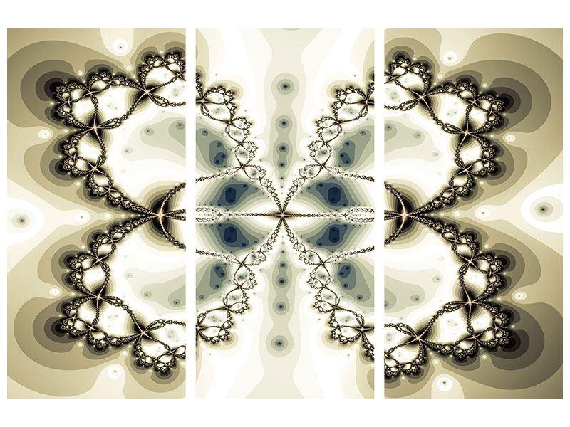 Poster 3-teilig Abstrakter Schmetterling