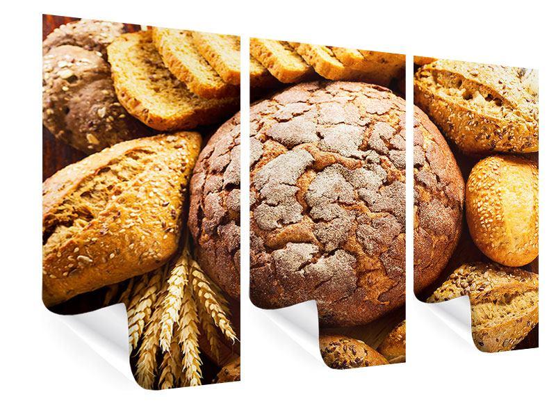 Poster 3-teilig Brotsortiment