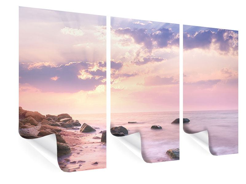 Poster 3-teilig Sonnenaufgang am Meer