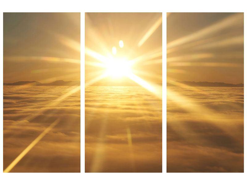 Poster 3-teilig Über dem Wolkenmeer