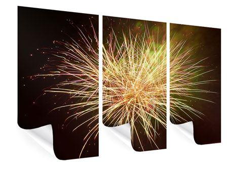 Poster 3-teilig Feuerwerk XXL