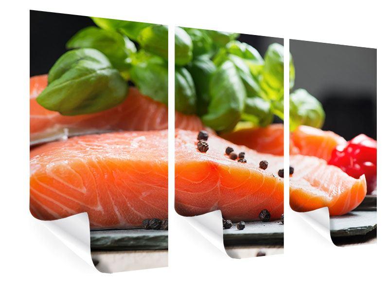 Poster 3-teilig Frischer Fisch