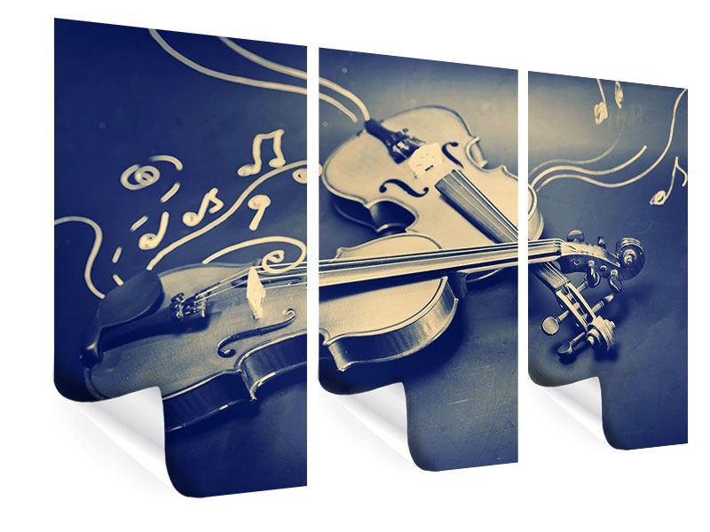 Poster 3-teilig Geigen