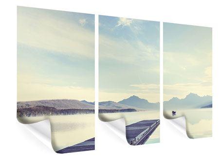 Poster 3-teilig Bergromantik