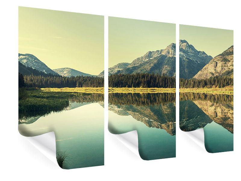 Poster 3-teilig Der Bergsee