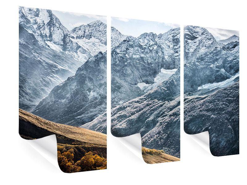 Poster 3-teilig Gigantische Berggipfel