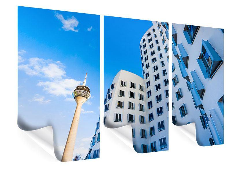 Poster 3-teilig Neuer Zollhof Düsseldorf