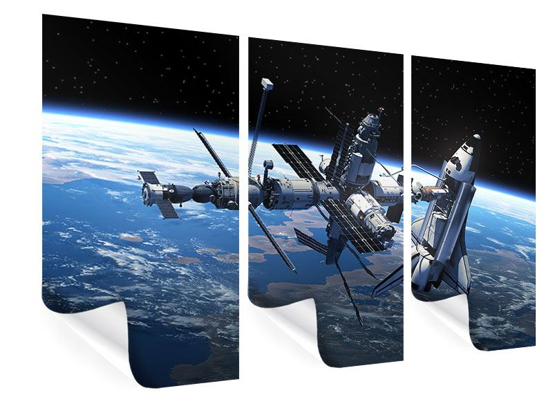 Poster 3-teilig Satellit