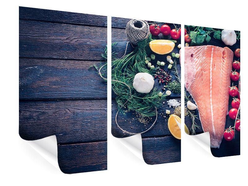 Poster 3-teilig Fangfrischer Fisch