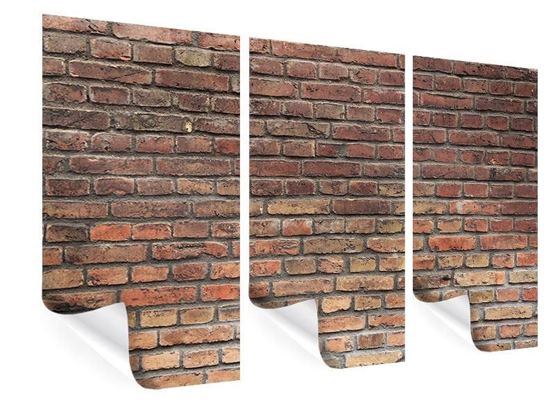 Poster 3-teilig Brick Wall