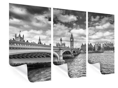 Poster 3-teilig Westminster Bridge