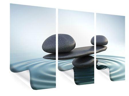 Poster 3-teilig Steinbalance