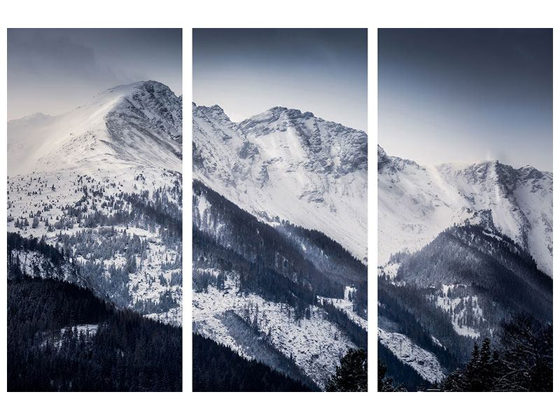 Poster 3-teilig Die Berge der Schweiz