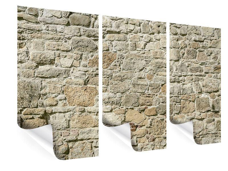 Poster 3-teilig Naturmauer