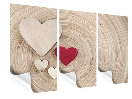 Poster 3-teilig Herzen