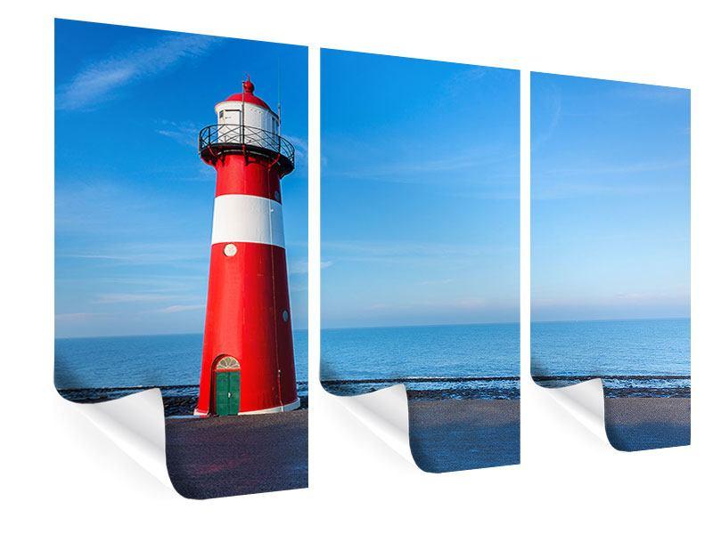 Poster 3-teilig Sommer beim Leuchtturm