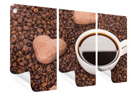 Poster 3-teilig Pausenkaffee