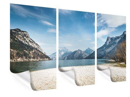 Poster 3-teilig Der idyllische Bergsee