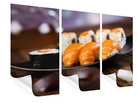 Poster 3-teilig Sushi-Gericht