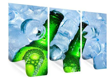 Poster 3-teilig Eisflaschen
