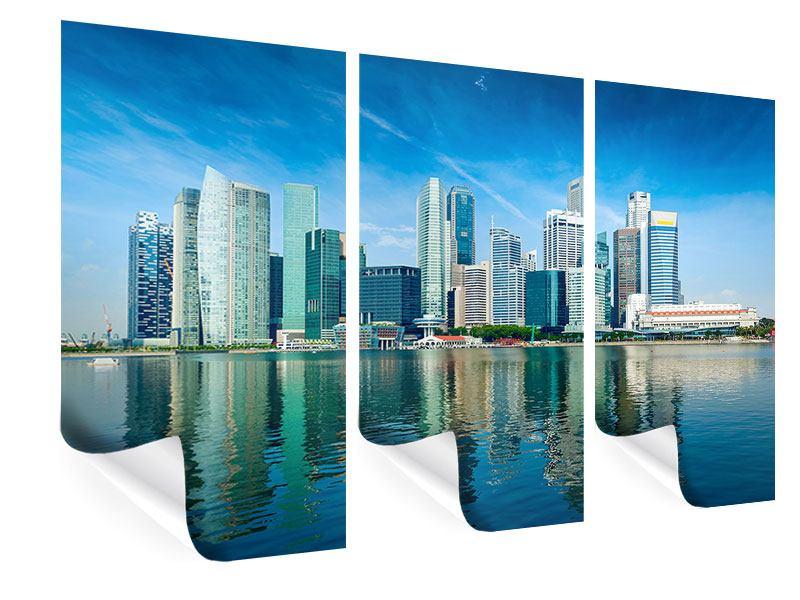 Poster 3-teilig Skyline Mexiko-Stadt