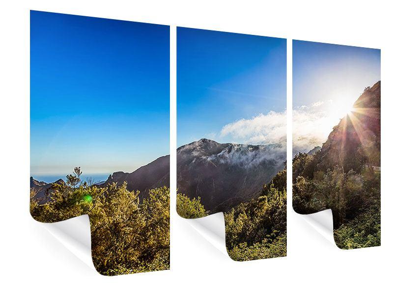 Poster 3-teilig Berge am Meer