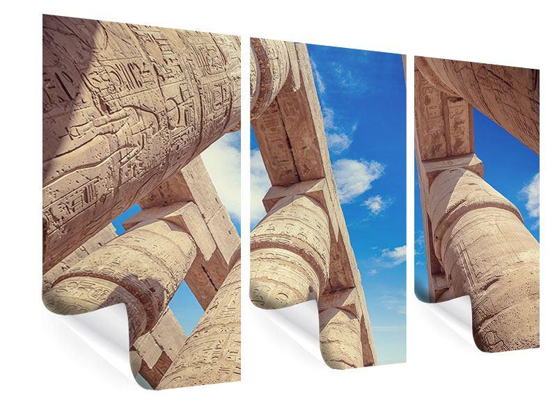 Poster 3-teilig Tempelsäulen