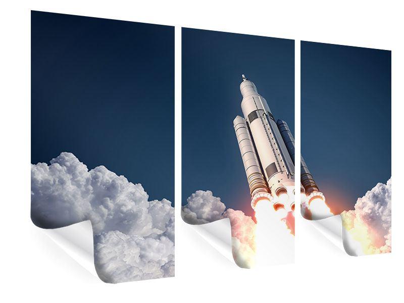 Poster 3-teilig Raketenstart