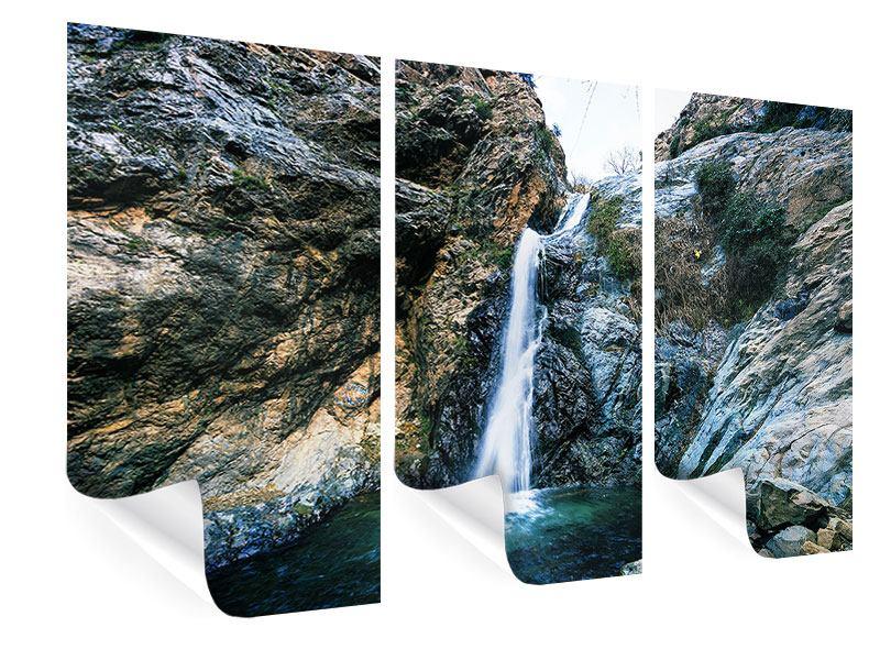 Poster 3-teilig Bewegtes Wasser