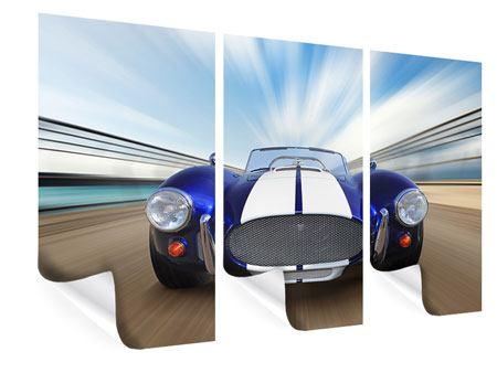 Poster 3-teilig Rennwagen