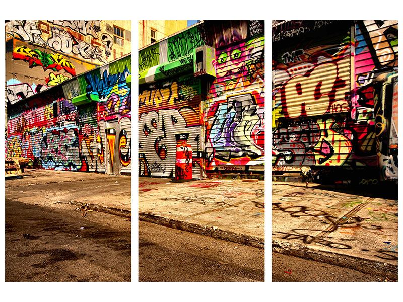 Poster 3-teilig NY Graffiti