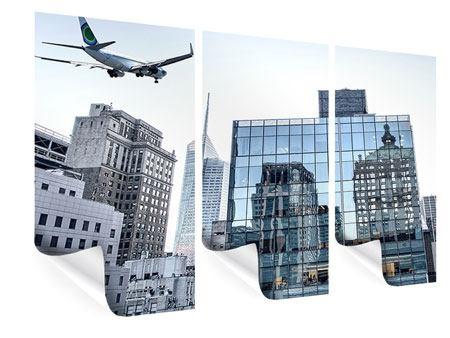 Poster 3-teilig Wolkenkratzer NYC