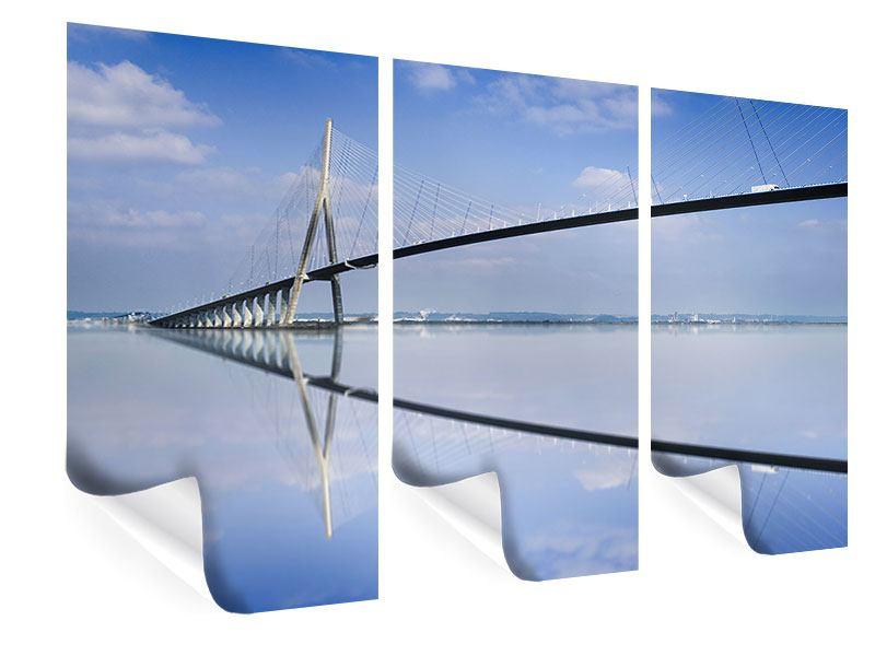 Poster 3-teilig Die Pont de Normandie