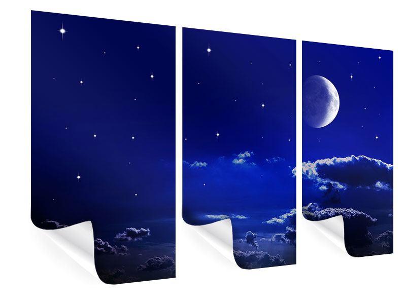 Poster 3-teilig Der Nachthimmel