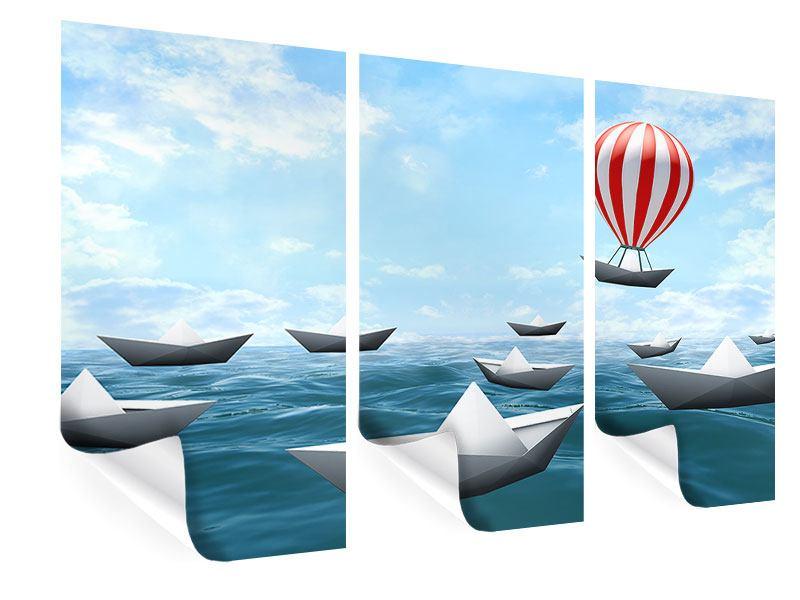 Poster 3-teilig Schiffchen